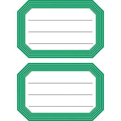 HERMA Buchetiketten, grüne Randgestaltung, 82 x 55 mm