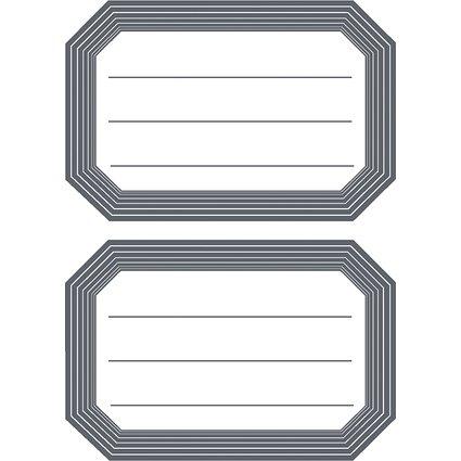 HERMA Buchetiketten, graue Randgestaltung, 82 x 55 mm