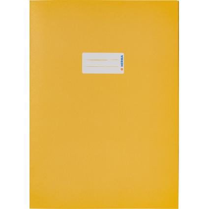 HERMA Heftschoner Recycling, DIN A4, aus Papier, gelb