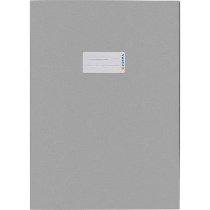 HERMA Heftschoner Recycling, DIN A4, aus Papier, hellgrau