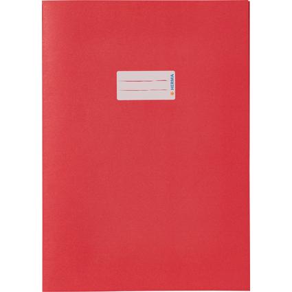 HERMA Heftschoner Recycling, DIN A4, aus Papier, dunkelrot