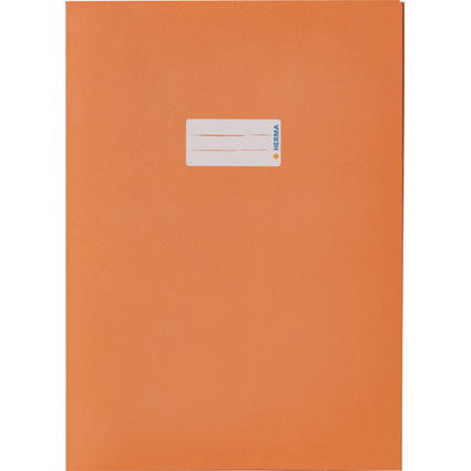 HERMA Heftschoner Recycling, DIN A4, aus Papier, orange