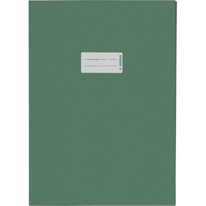 HERMA Heftschoner Recycling, DIN A4, aus Papier, dunkelgrün
