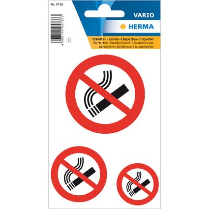 """HERMA Hinweisetiketten """"Nicht rauchen"""", Folie, wetterfest"""
