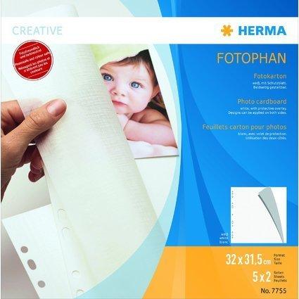 HERMA Fotokarton FOTOPHAN, 320 x 315 mm, weiß