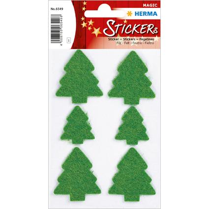 """HERMA Weihnachts-Sticker DECOR Filz """"Weihnachtsbaum"""", grün"""