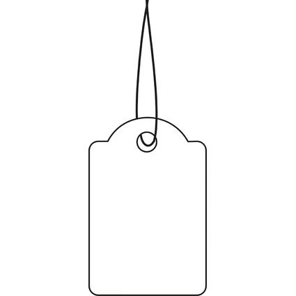 HERMA Warenanhänger, 18 x 28 mm, mit rotem Faden, Karton