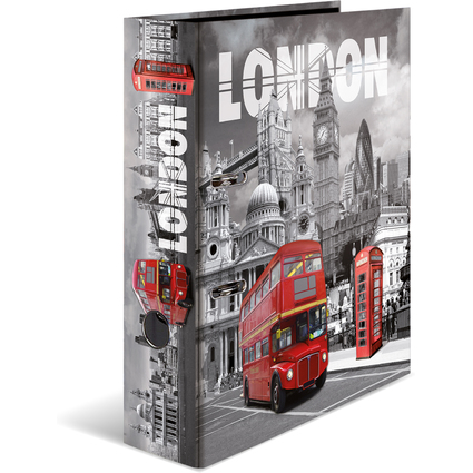 """HERMA Motivordner """"London"""", DIN A4, Rückenbreite: 70 mm"""