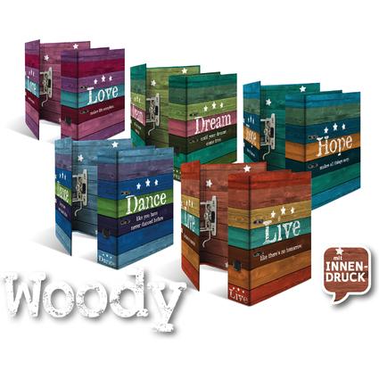 """HERMA Motivordner-Set """"Woody"""", DIN A4, Rückenbreite: 70 mm"""