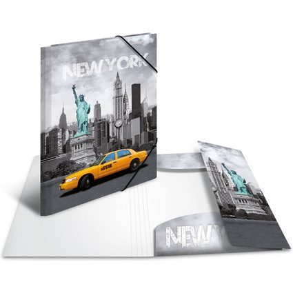 "HERMA Eckspannermappe ""Trendmetropolen - New York"", PP, A3"