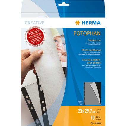 HERMA Fotokarton, 230 x 297 mm, schwarz, Inhalt: 10 Blatt