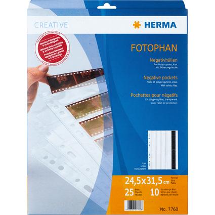 HERMA Negativhüllen für 10 x 4 Negative, aus PP, transparent
