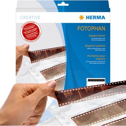 HERMA Negativhüllen für 4 Filmstreifen, klar, Polypropylen
