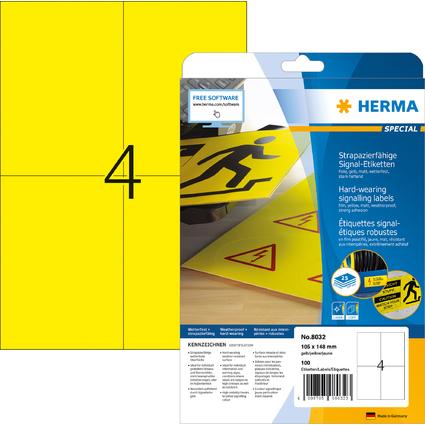 HERMA Signal-Etiketten SPECIAL, 105 x 148 mm, gelb