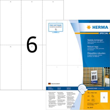 HERMA Warenanhänger SPECIAL, 70 x 148,5 mm, weiß