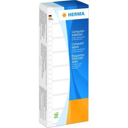 HERMA Computeretiketten endlos, 88,9 x 23 mm, 1-bahnig