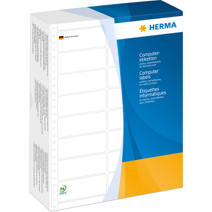 HERMA Computeretiketten endlos, 101,6 x 48,4 mm, 2-bahnig