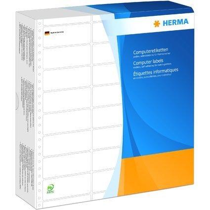 HERMA Computeretiketten endlos, 88,9 x 35,7 mm, 3-bahnig