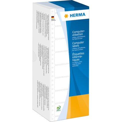 HERMA Computeretiketten endlos, 127 x 48,4 mm, 1-bahnig
