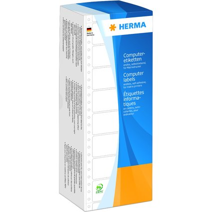 HERMA Computeretiketten endlos, 106,68 x 48,4 mm, 1-bahnig