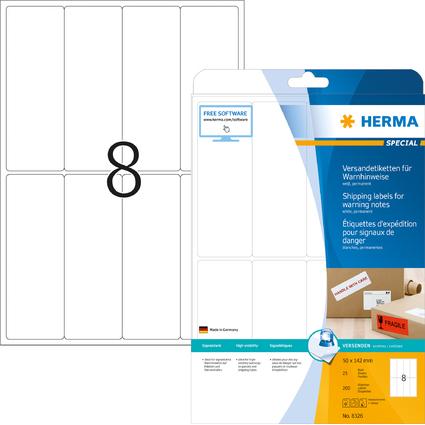 HERMA Versand-Etiketten SPECIAL, 50 x 142 mm, weiß