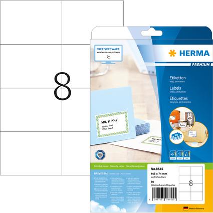 HERMA Universal-Etiketten PREMIUM, 105 x 74 mm, weiß