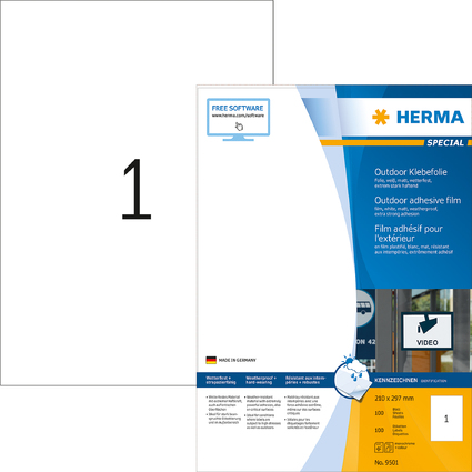 HERMA Outdoor Folien-Etiketten SPECIAL, 210 x 297 mm
