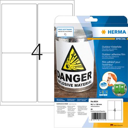 HERMA Outdoor Folien-Etiketten SPECIAL, 99,1 x 139 mm