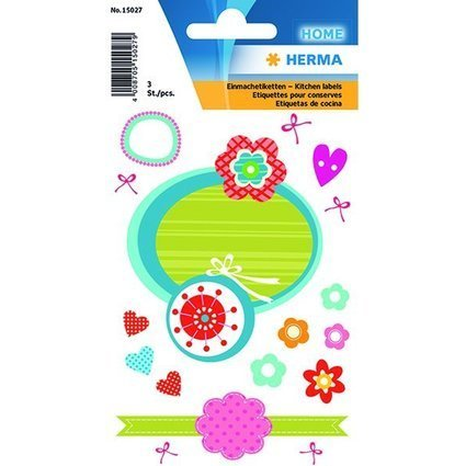 HERMA Haushalts-Etiketten Flowers, sortiert