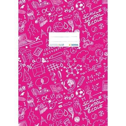 """HERMA Heftschoner """"Schoolydoo"""", DIN A4, aus PP, pink"""