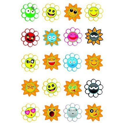 "HERMA Sticker MAGIC ""Crazy Suns"", Puffy"
