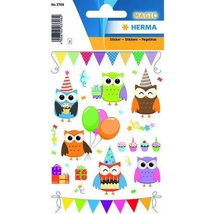 "HERMA Sticker MAGIC ""Birthday Party"", Prismaticfolie / Foam"