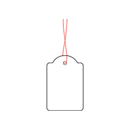 HERMA Warenanhänger, 32 x 50 mm, mit rotem Faden, Karton