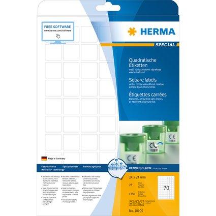 HERMA Universal-Etiketten SPECIAL, 24 x 24 mm, weiß