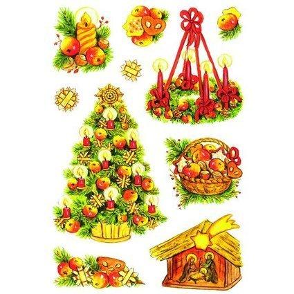 """HERMA Weihnachts-Sticker DECOR """"Weihnachtssymbole"""", glimmer"""