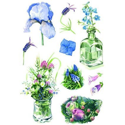 "HERMA Sticker DECOR ""Aquarell Blumen"""