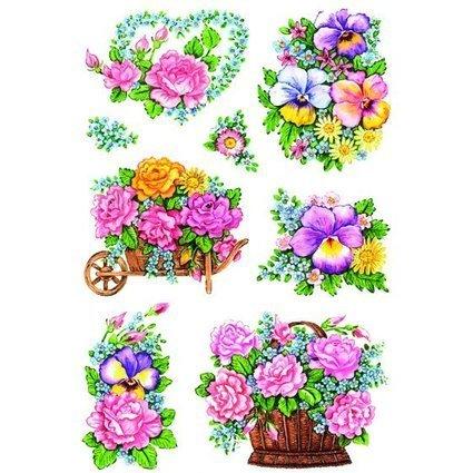 """HERMA Sticker DECOR """"Nostalgische Blumentöpfe"""""""