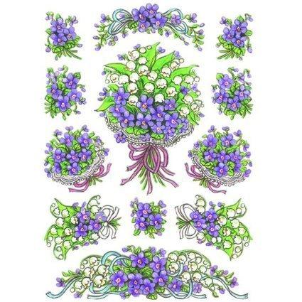 """HERMA Sticker DECOR """"Blumensträuße Veilchen"""""""