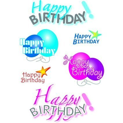 "HERMA Sticker DECOR ""Happy Birthday"""