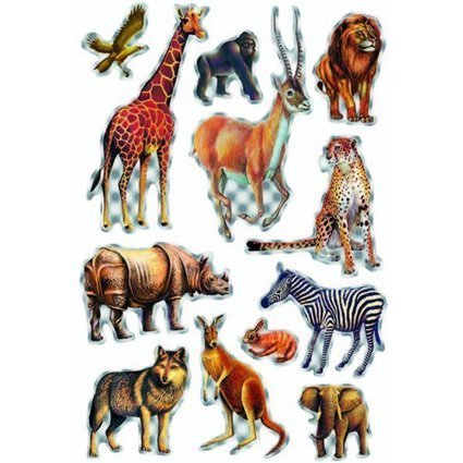 "HERMA Sticker MAGIC ""Tiere Afrikas"", Prismaticfolie"