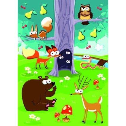 "HERMA Sticker MAGIC ""Tiere im Wald"", Wackelaugen"