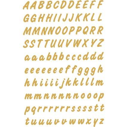 HERMA Buchstaben-Sticker A-Z, Folie wetterfest, gold