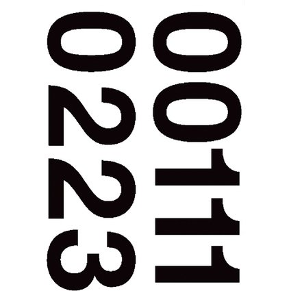 HERMA Zahlen-Sticker 0-9, Folie schwarz, Höhe: 33 mm