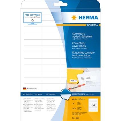 HERMA Korrektur-/Abdeck-Etiketten SPECIAL, 48,3 x 16,9 mm