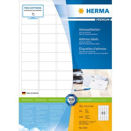 HERMA Adress-Etiketten, 38,1 x 21,2 mm, weiß