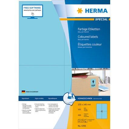 HERMA Universal-Etiketten SPECIAL, 105 x 148 mm, blau