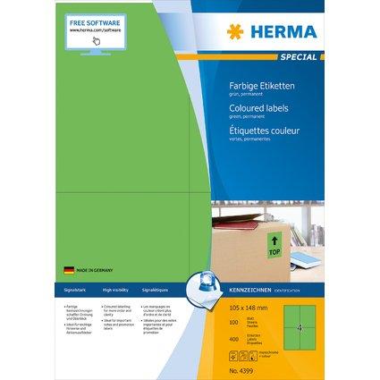 HERMA Universal-Etiketten SPECIAL, 105 x 148 mm, grün