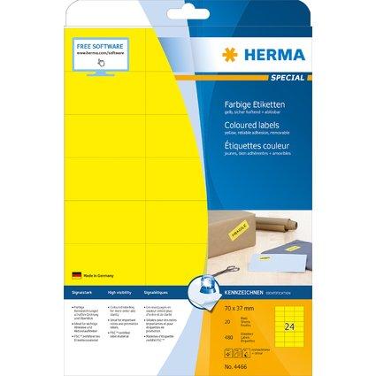 HERMA Universal-Etiketten SPECIAL, 70 x 37 mm, gelb
