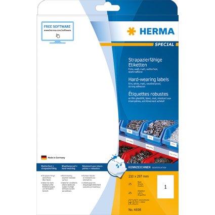 HERMA Folien-Etiketten SPECIAL, 210 x 297 mm, weiß