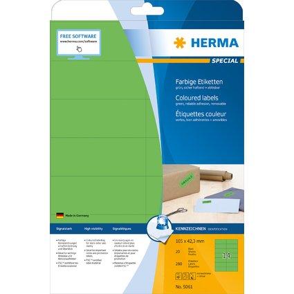 HERMA Universal-Etiketten SPECIAL, 105 x 42,3 mm, grün